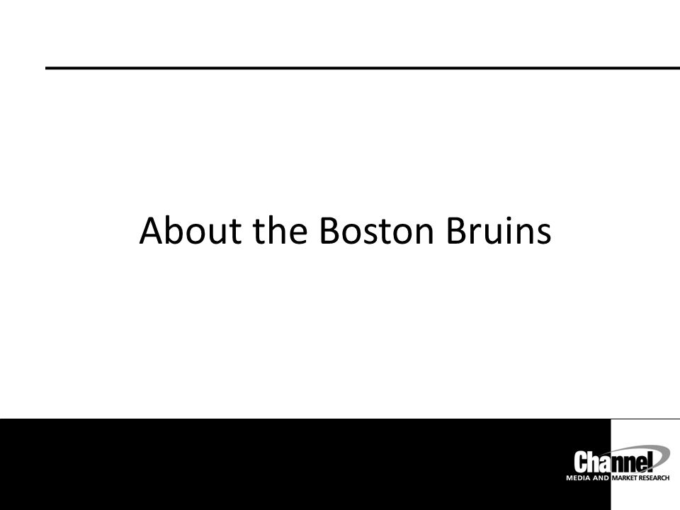 About the Boston Bruins