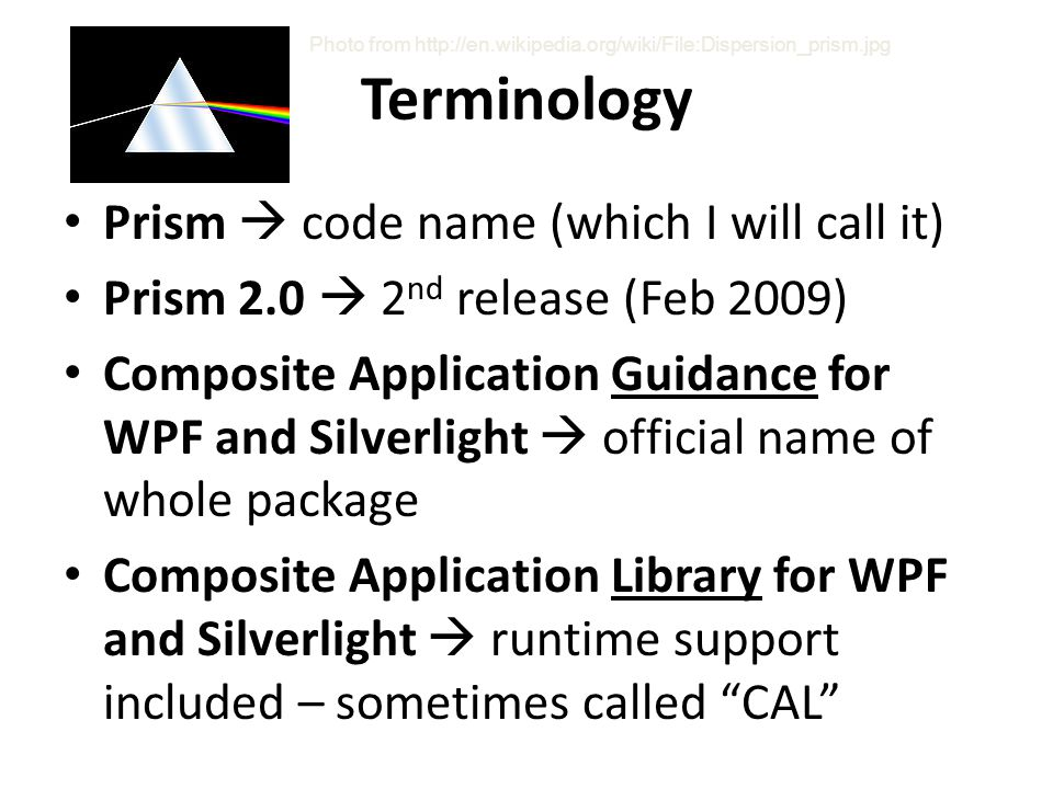 Terminology Prism  code name (which I will call it)