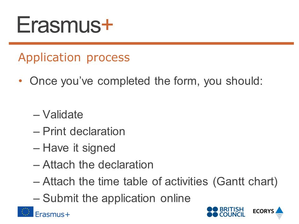 Once you've completed the form, you should: Validate Print declaration