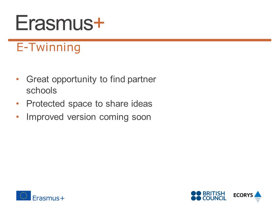 E-Twinning Great opportunity to find partner schools