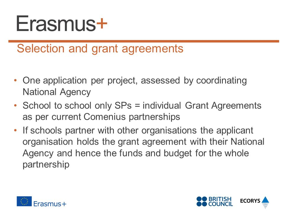 Selection and grant agreements