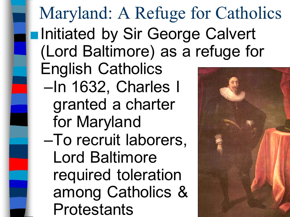 Maryland: A Refuge for Catholics