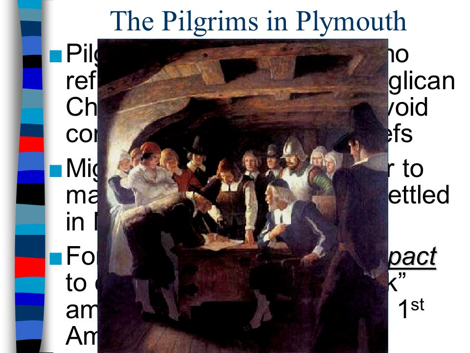 The Pilgrims in Plymouth