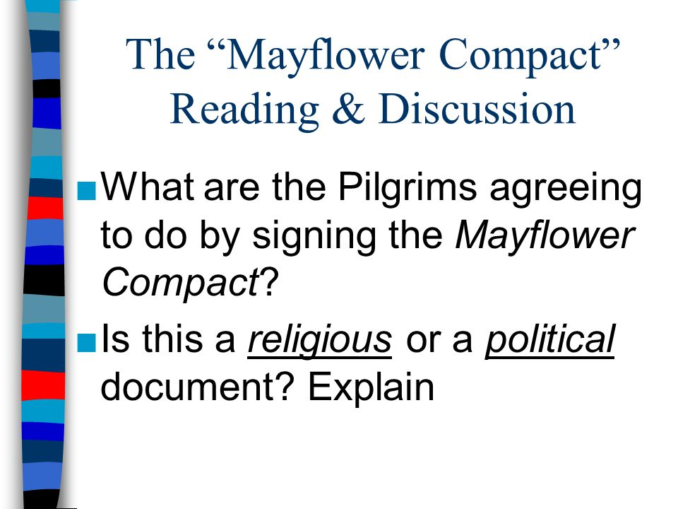 The Mayflower Compact Reading & Discussion