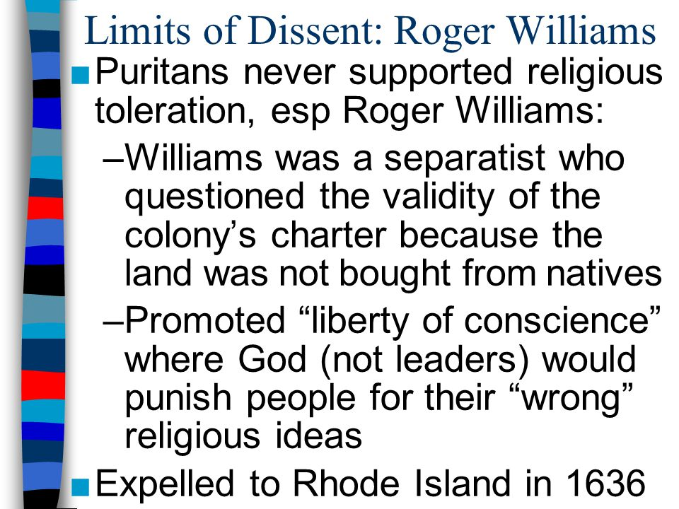 Limits of Dissent: Roger Williams
