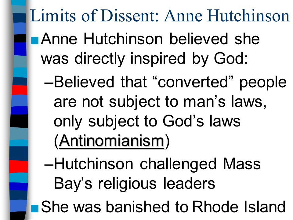 Limits of Dissent: Anne Hutchinson