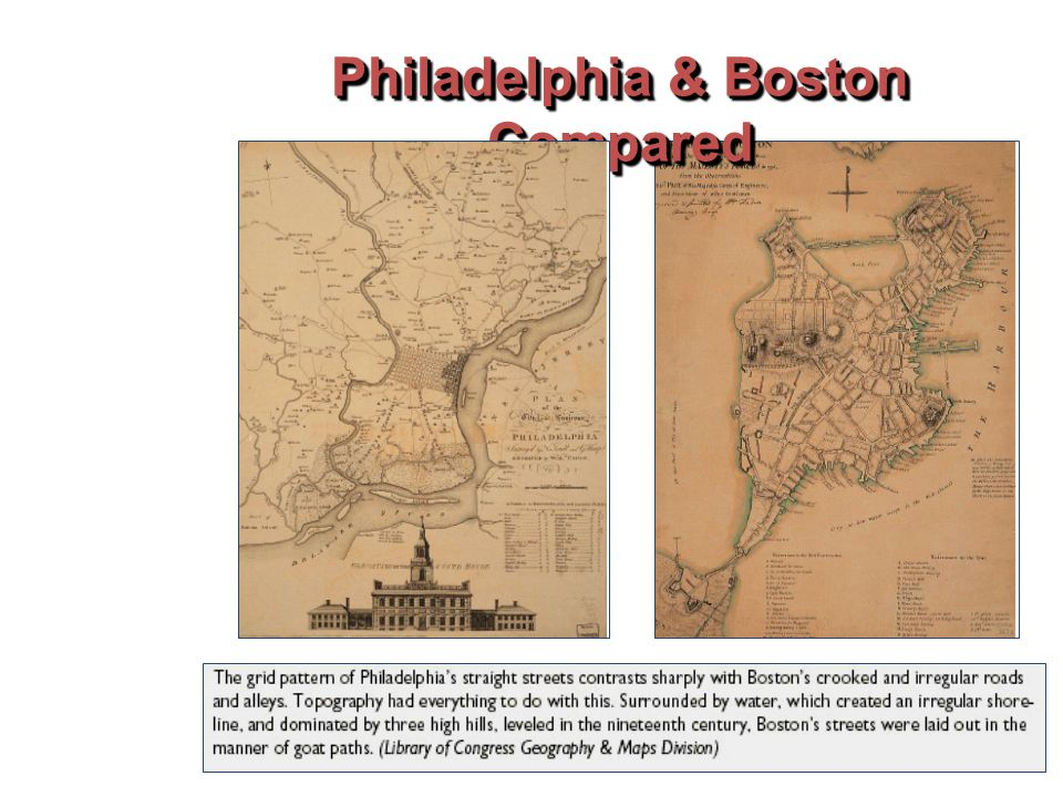 Philadelphia & Boston Compared