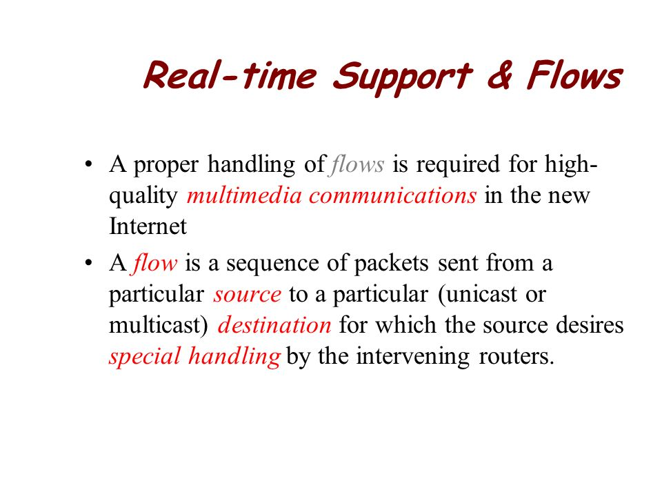 Real-time Support & Flows