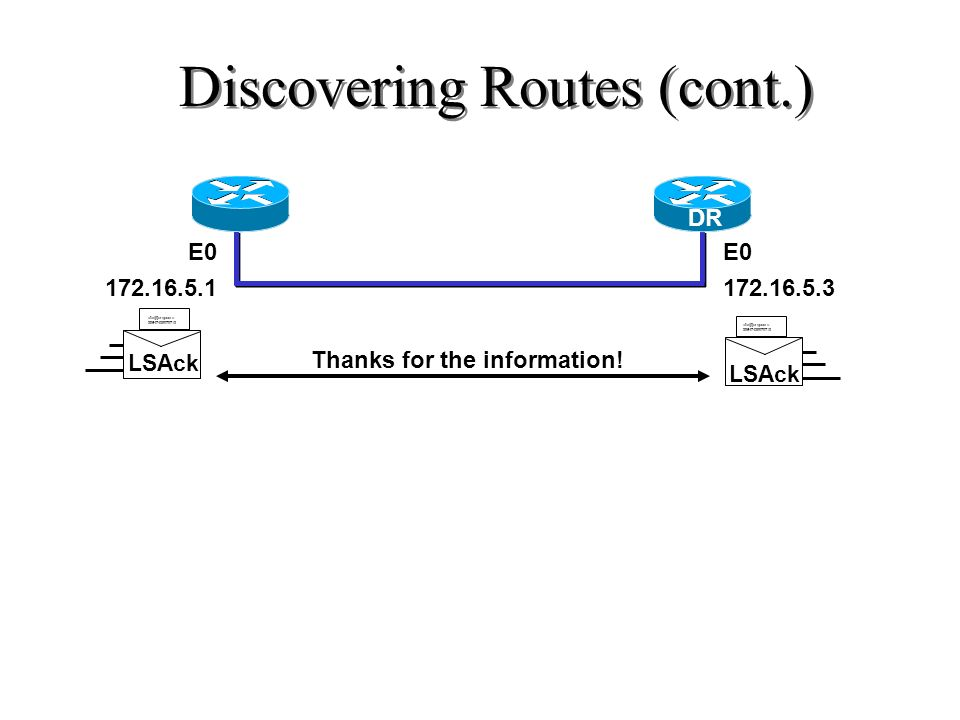 Discovering Routes (cont.)