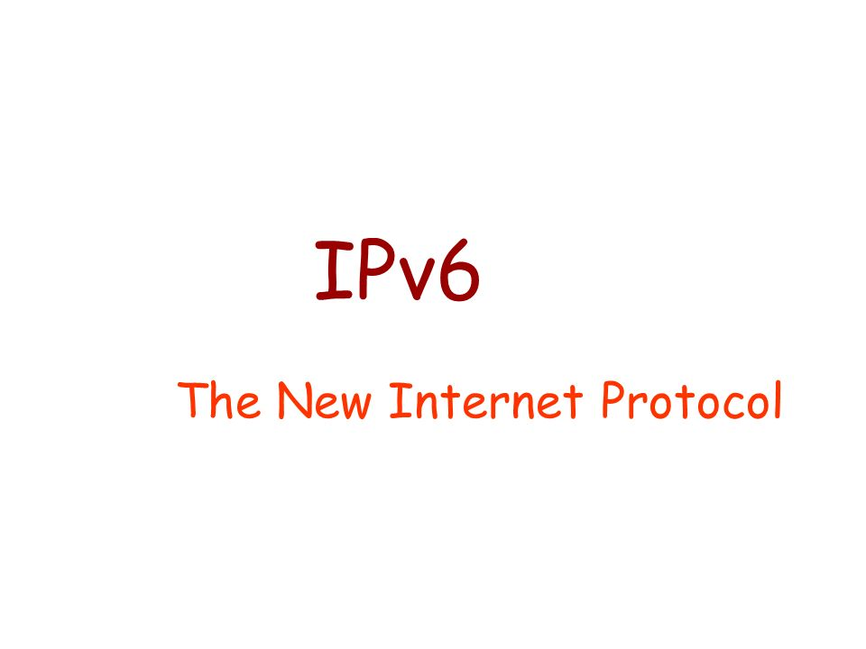 The New Internet Protocol