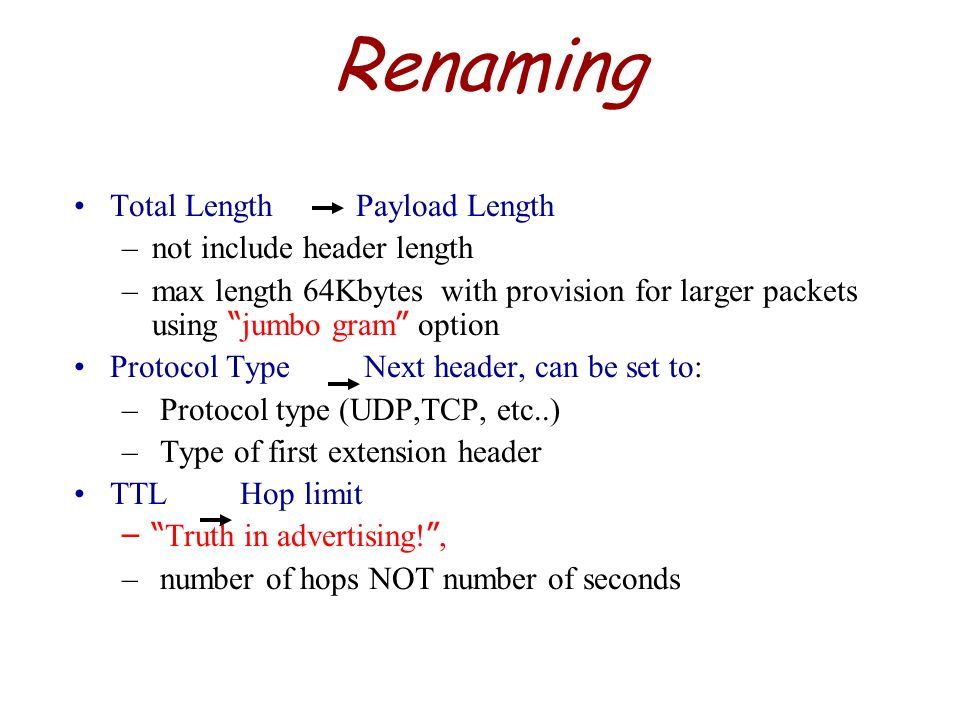 Renaming Total Length Payload Length not include header length