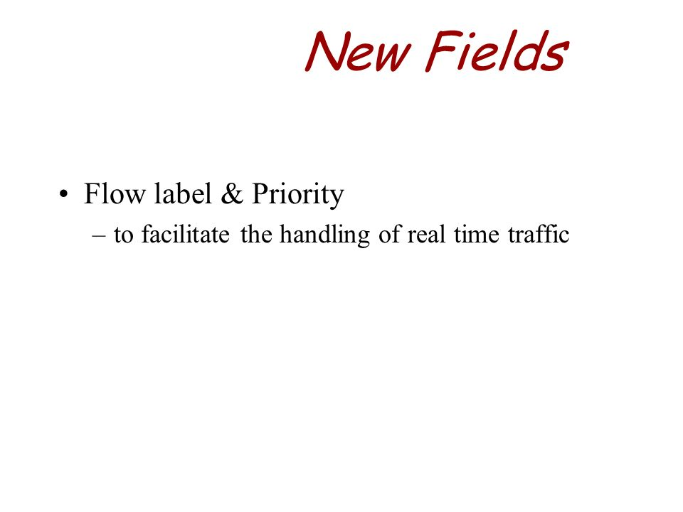 New Fields Flow label & Priority