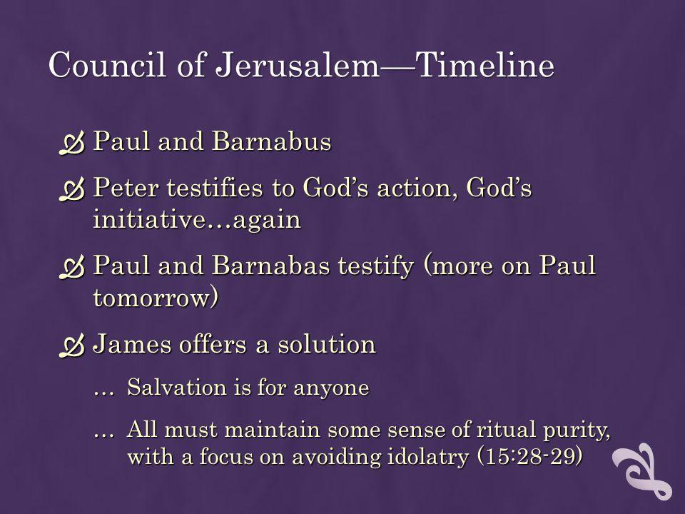 Council of Jerusalem—Timeline