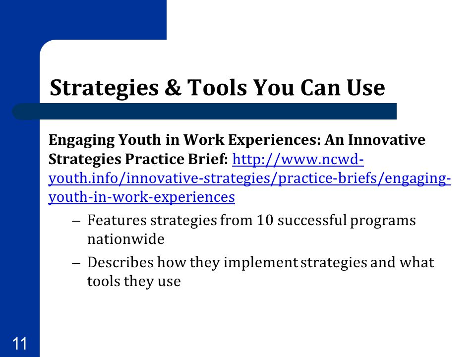 Strategies & Tools You Can Use