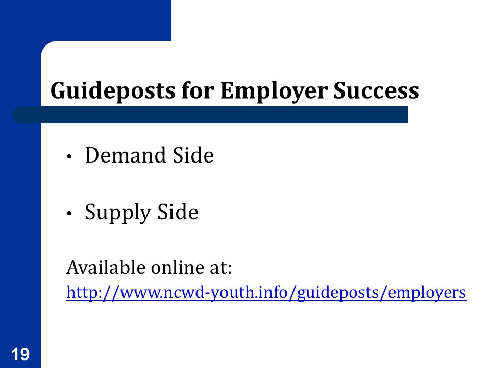 Guideposts for Employer Success