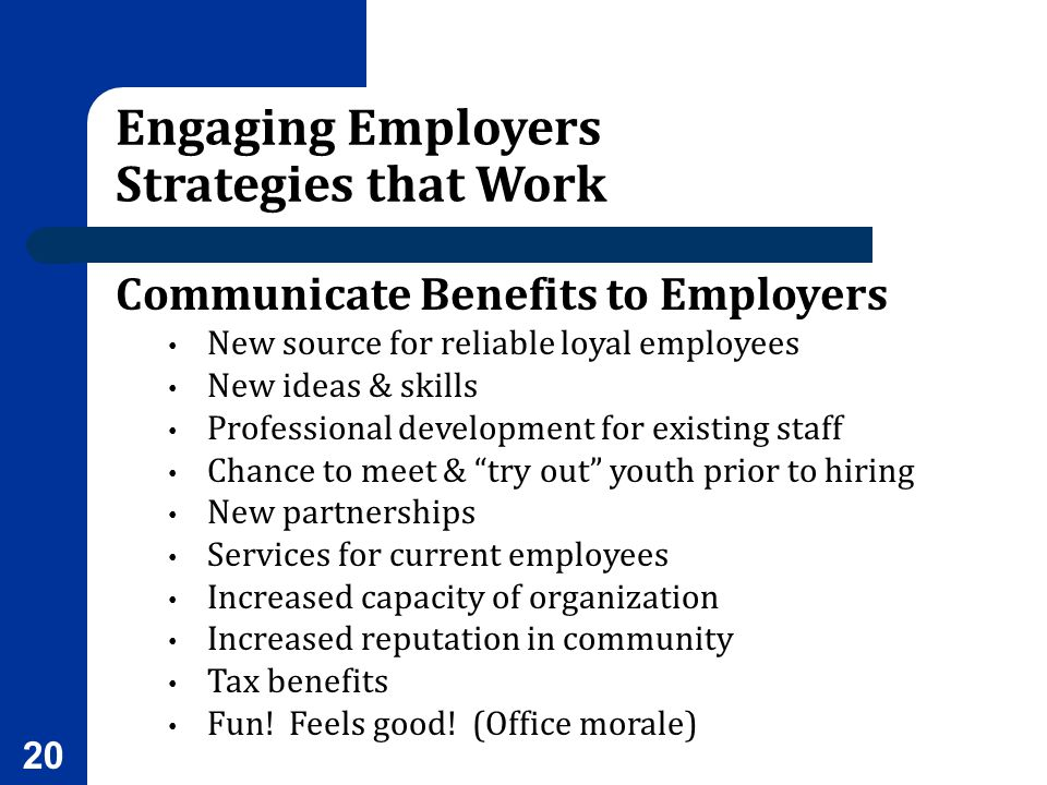 Engaging Employers Strategies that Work