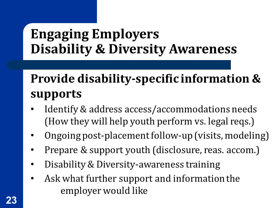 Engaging Employers Disability & Diversity Awareness