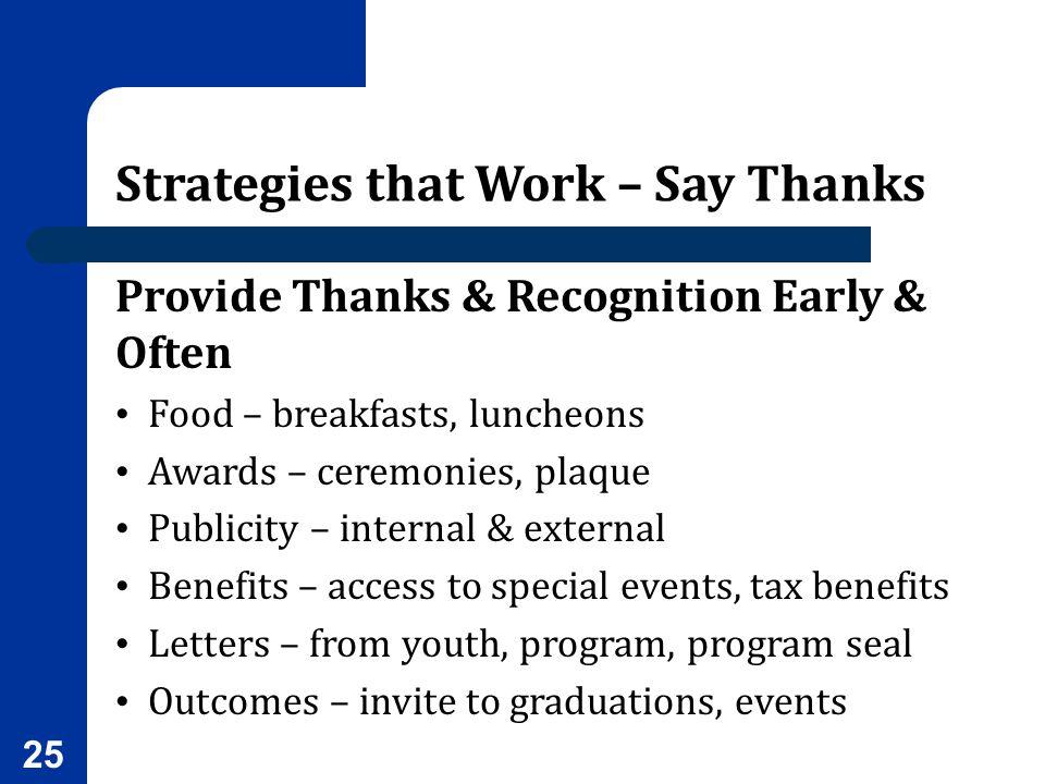 Strategies that Work – Say Thanks