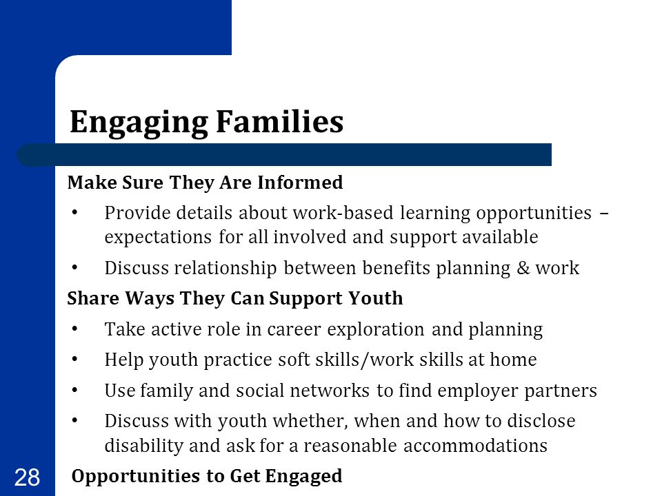 Engaging Families Make Sure They Are Informed