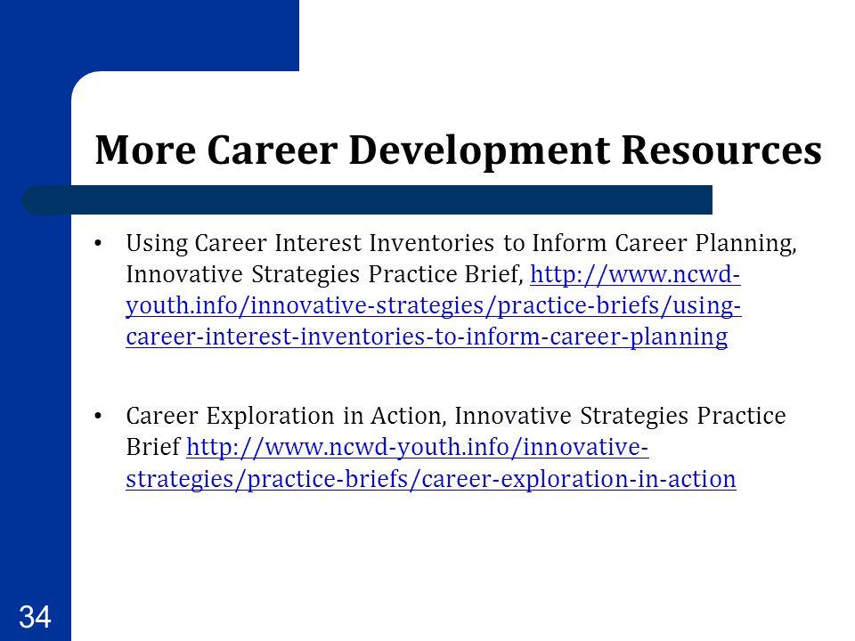 More Career Development Resources