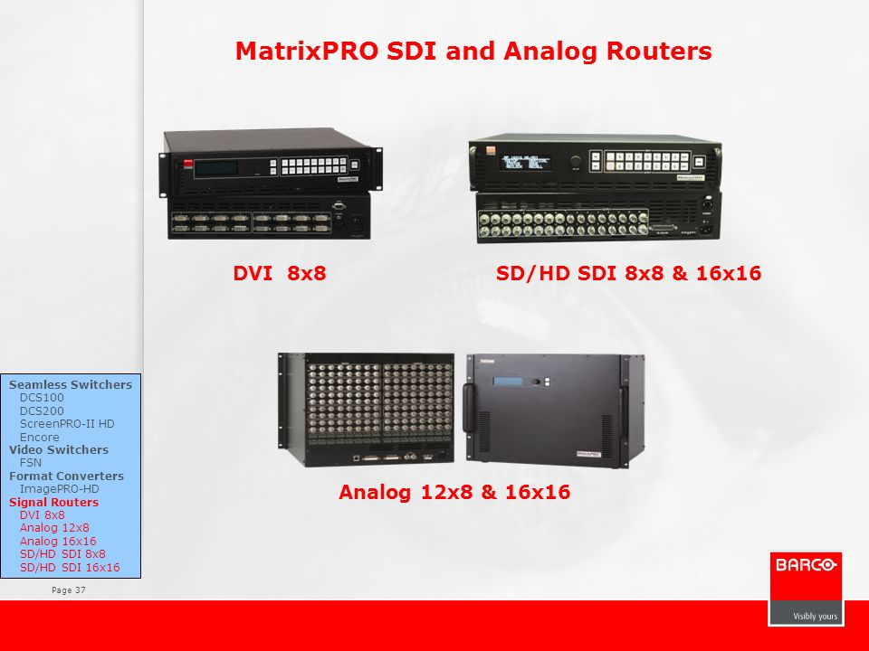 MatrixPRO SDI and Analog Routers