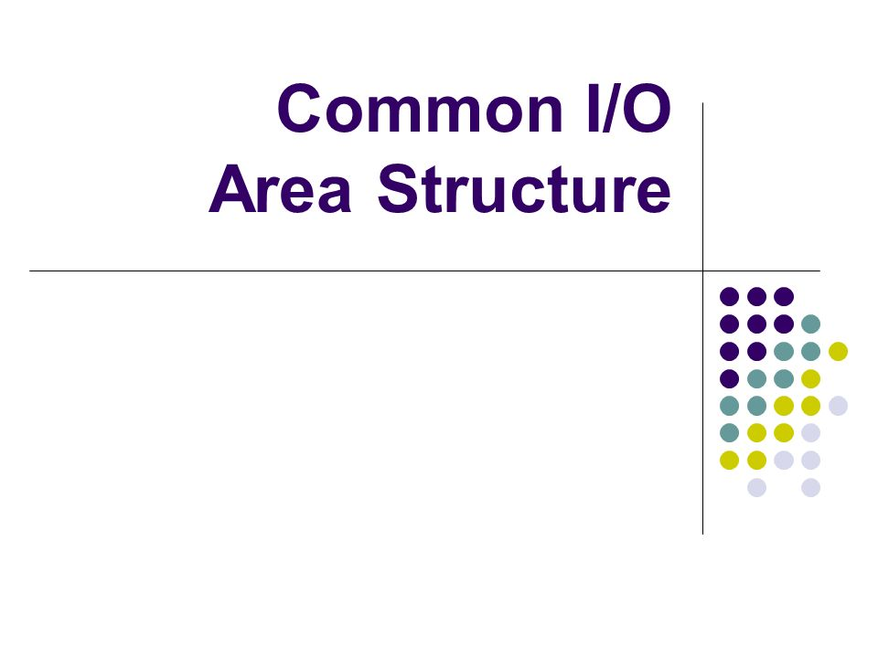 Common I/O Area Structure