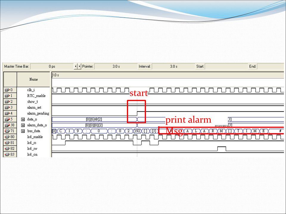 start print alarm Msg