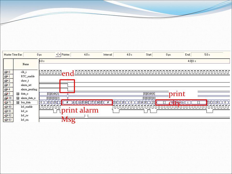 end print city print alarm Msg