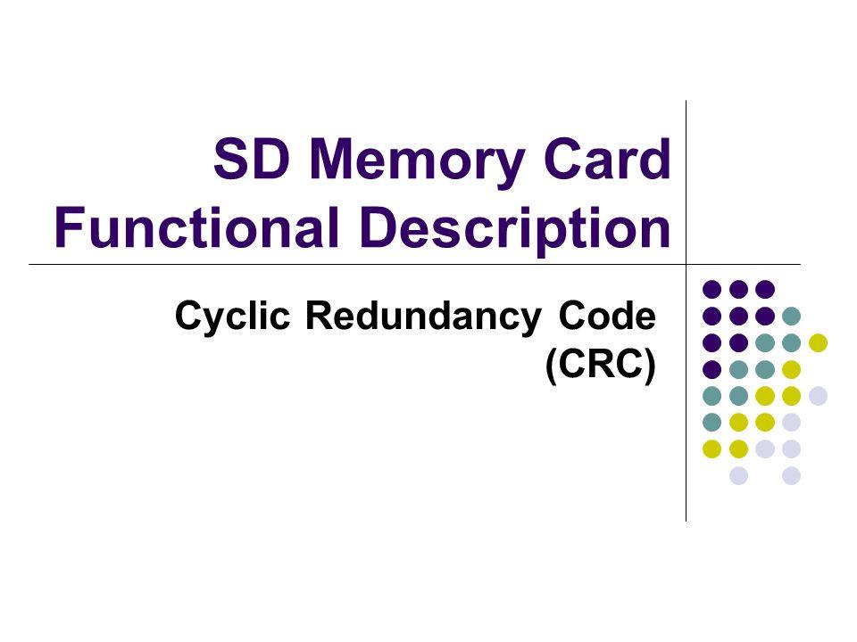 SD Memory Card Functional Description