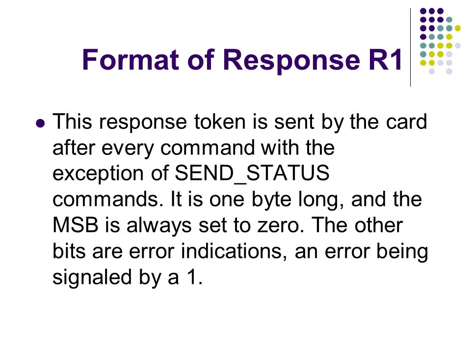 Format of Response R1