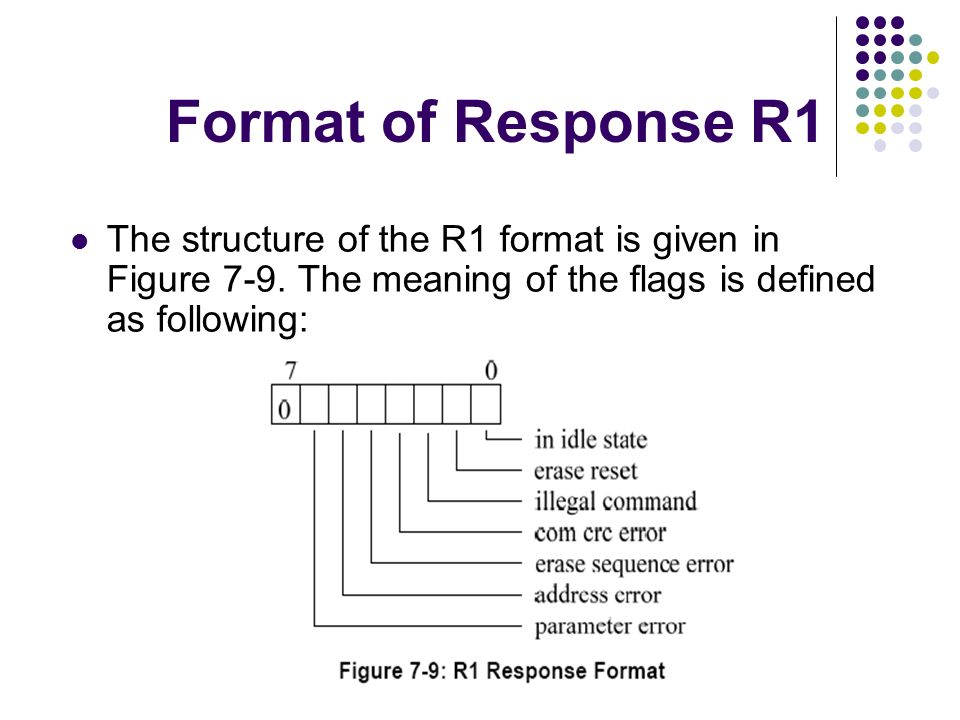 Format of Response R1 The structure of the R1 format is given in Figure 7-9.