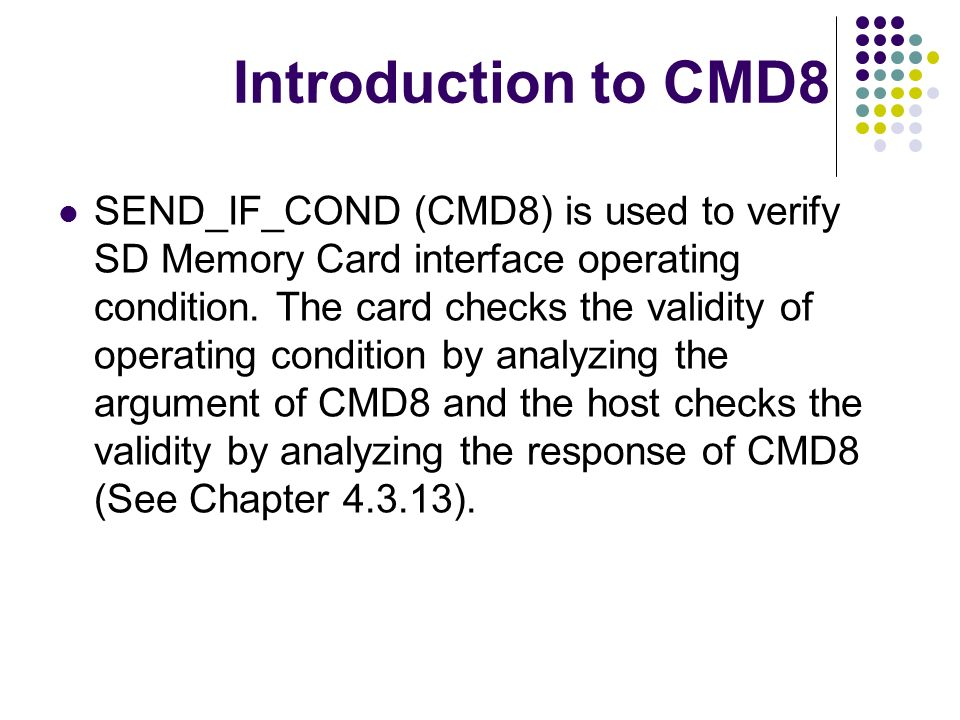 Introduction to CMD8