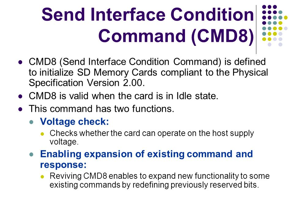 Send Interface Condition Command (CMD8)