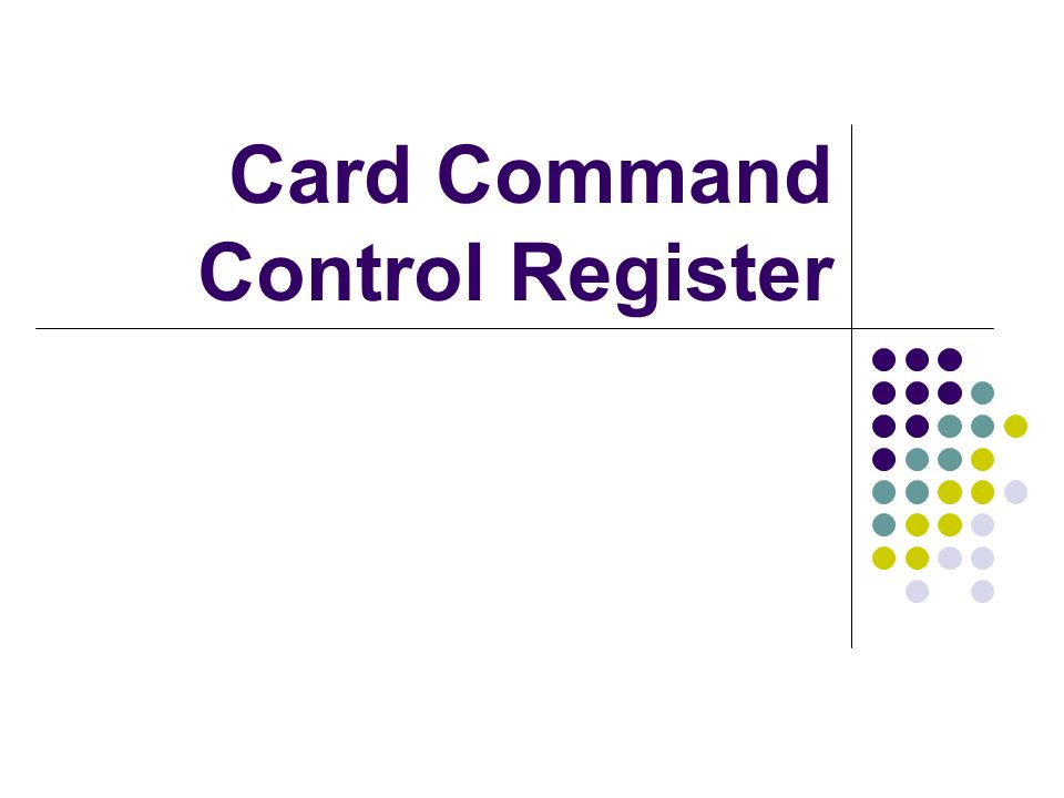 Card Command Control Register