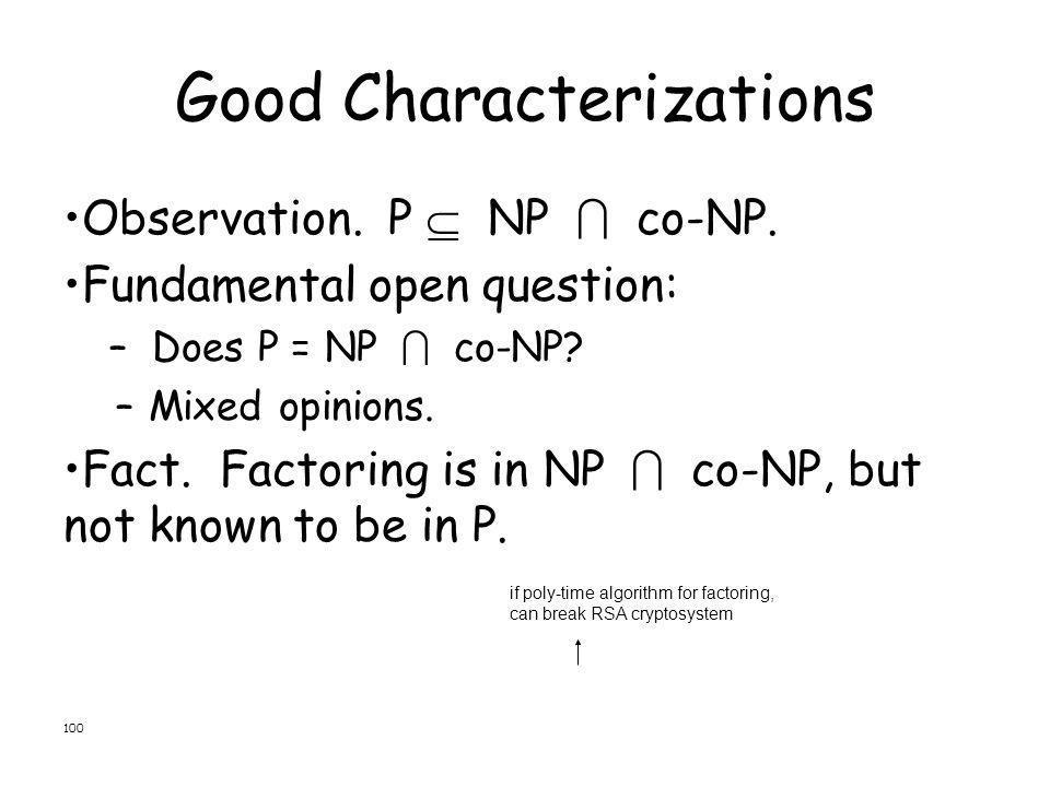 Good Characterizations