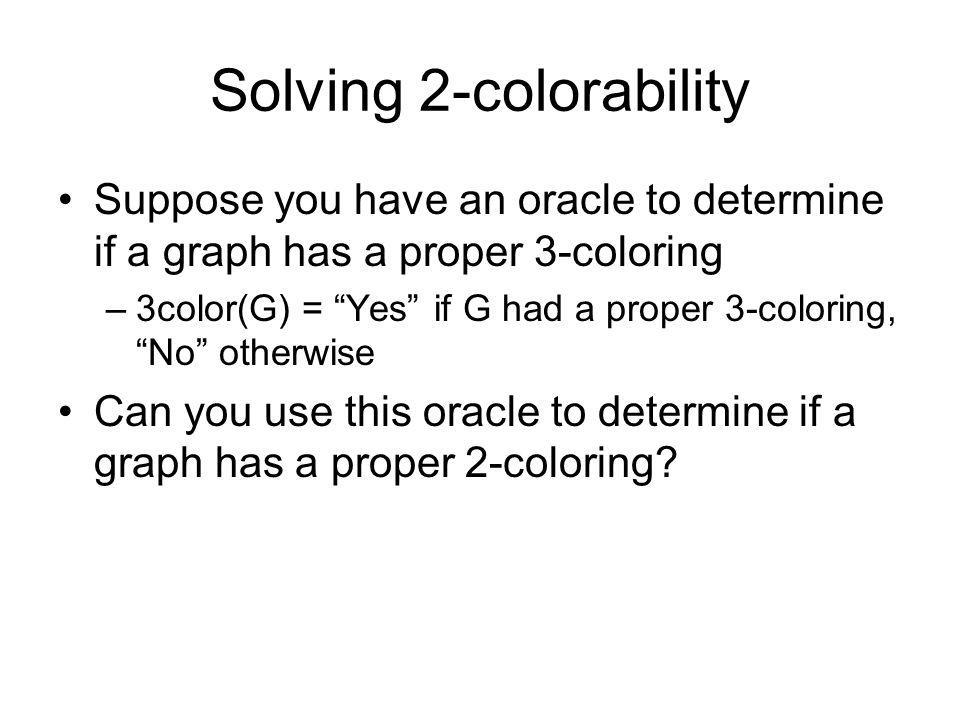 Solving 2-colorability