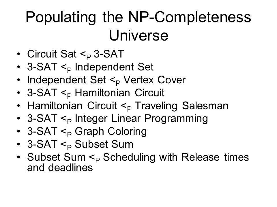 Populating the NP-Completeness Universe