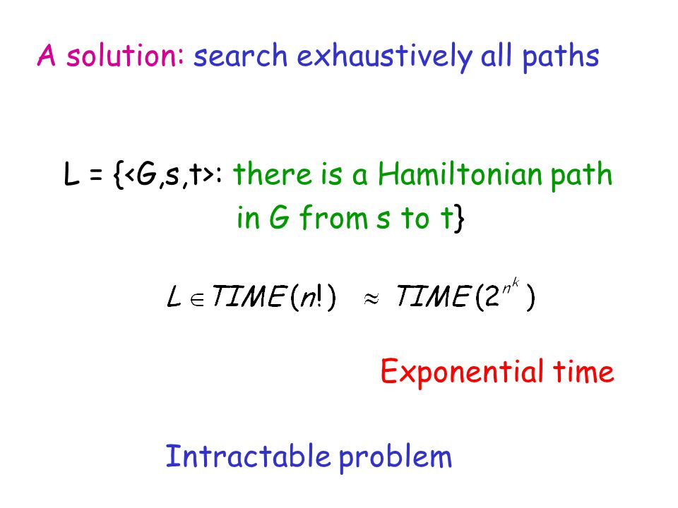 A solution: search exhaustively all paths