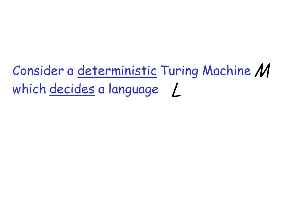 Consider a deterministic Turing Machine