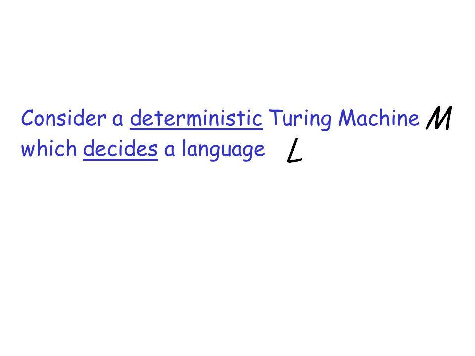 Consider a deterministic Turing Machine