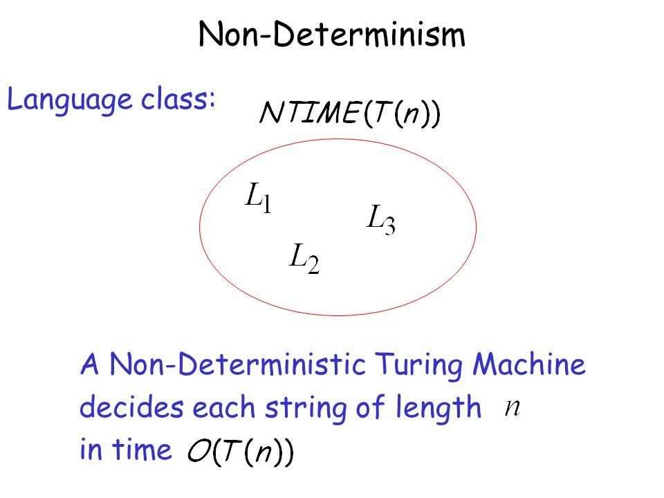 Non-Determinism Language class: A Non-Deterministic Turing Machine