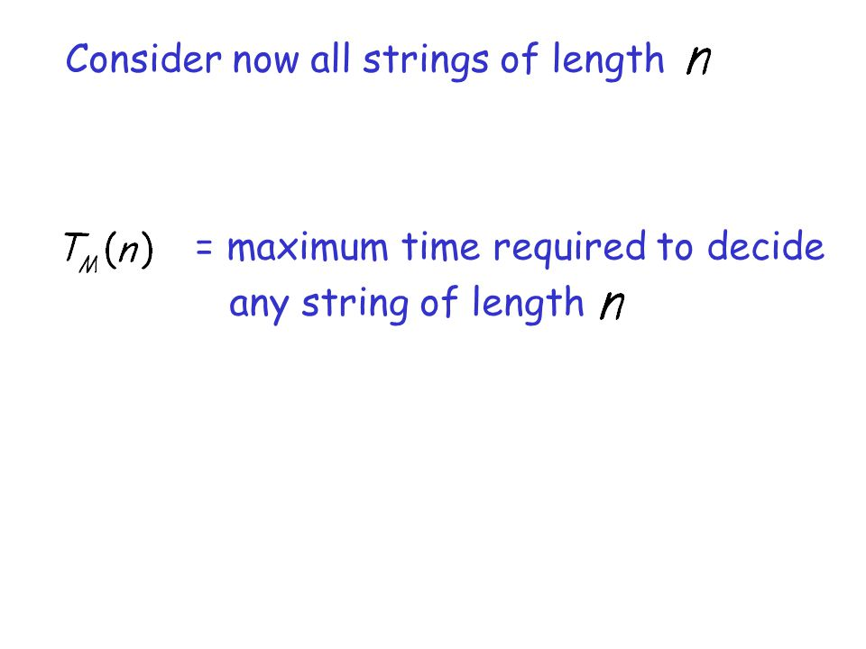 Consider now all strings of length