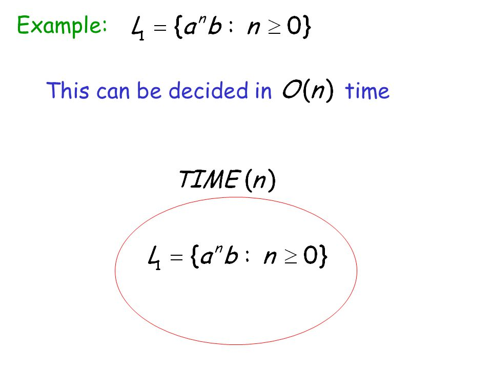 Example: This can be decided in time