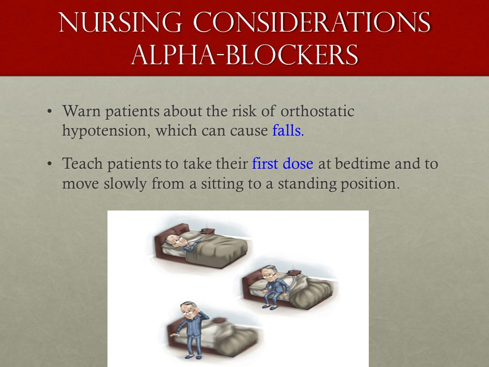 Nursing Considerations alpha-blockers