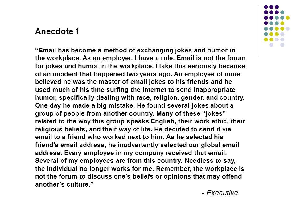 Anecdote 1