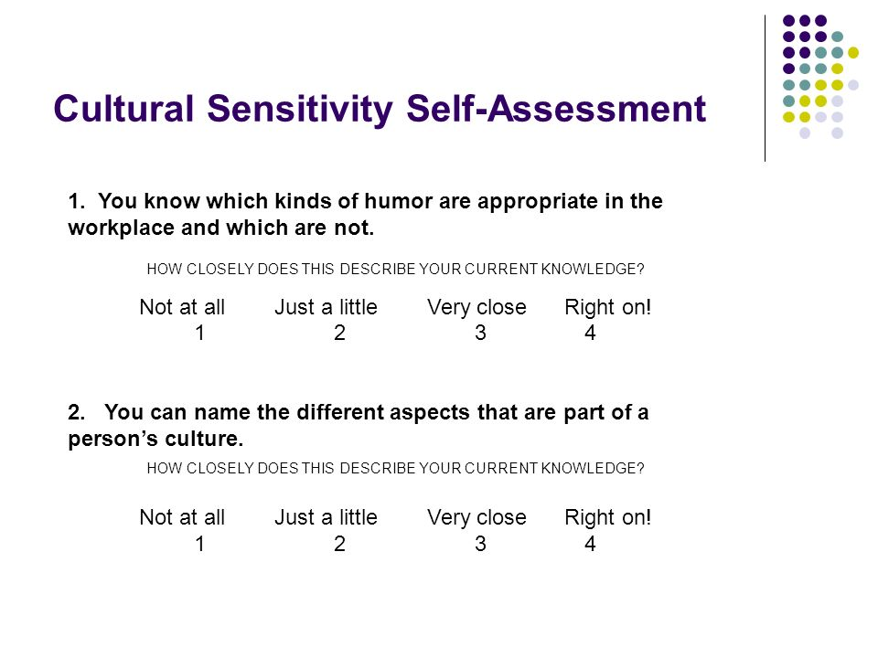 Cultural Sensitivity Self-Assessment