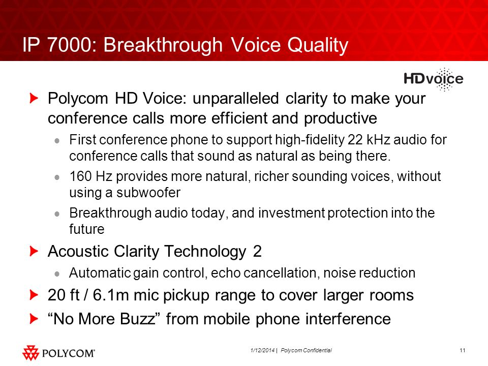 IP 7000: Breakthrough Voice Quality