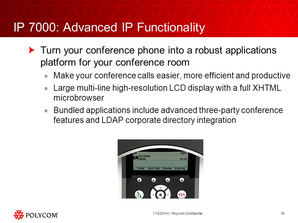 IP 7000: Advanced IP Functionality