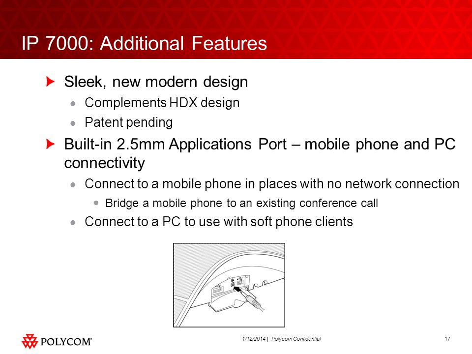 IP 7000: Additional Features