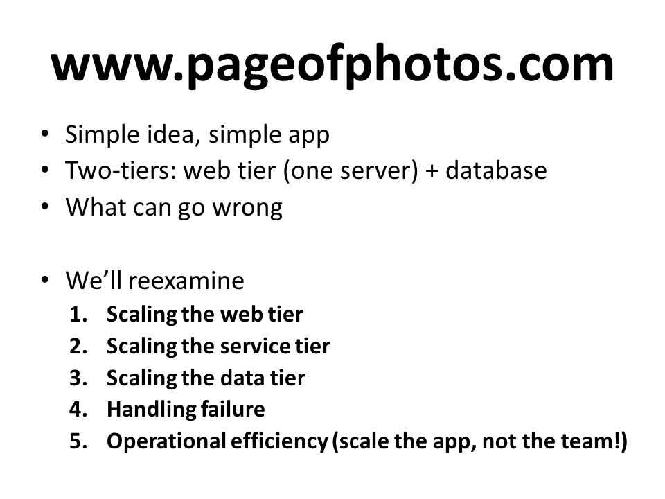 www.pageofphotos.com Simple idea, simple app